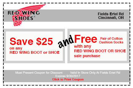 Red Wing Shoes Discount Code