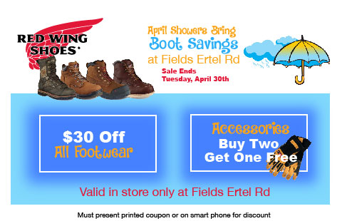 April Red Wing Coupon